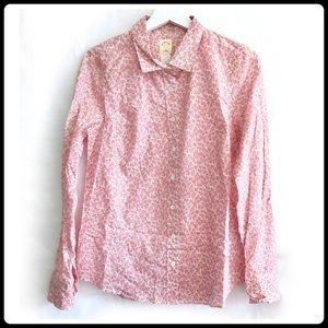 NWT J. Crew floral print perfect shirt size 10